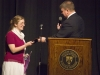 Joseph Pearce presents Lydia Martin with the first Shakespeare & Christianity Essay Award